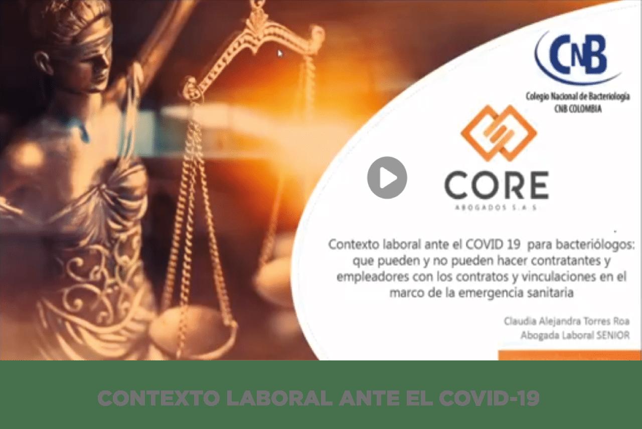 CONTEXTO LABORAL ANTE EL COVID-19
