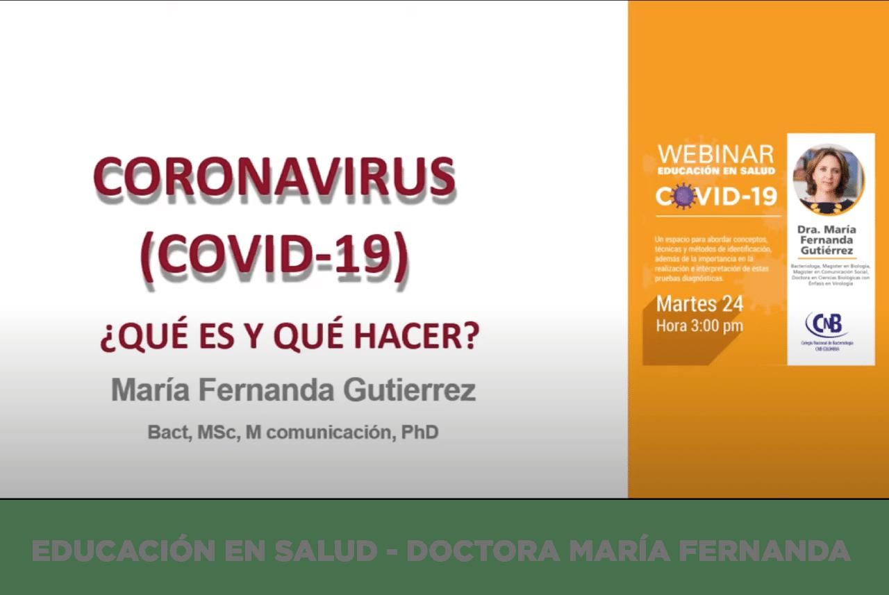 Educación en Salud - Doctora María Fernanda Gutiérrez